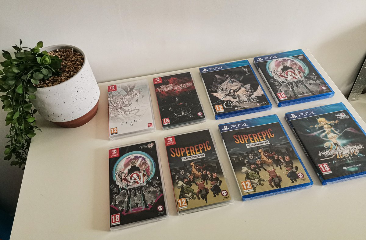 ⚡️WIN A PHYSICAL GAME OF CHOICE!🤪   🏆WINNERS ANNOUNCED at 8750 and 9000 FOLLOWERS! ⏲️  ENTER OUR #GIVEAWAY BY: ➕FOLLOWING US -  (otherwise you won't be counted)  🔁RETWEET & ❤️LIKE this post!  💬COMMENT what game you want! 🌱*Plant not included   #Switch #PS4 #freegames