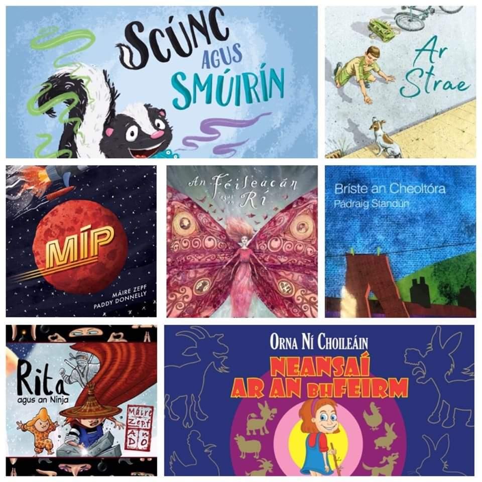 Kind of gobsmacked to have 3 books on this year's shortlist for the Reics Carló Awards -The Irish language Children's Book of the Year.  Tá sé doiligh seo a chreidiúint!! Comhghairdeas ó chroí do gach duine ar an liosta - scríbhneoirí, maisitheoirí, aistritheoirí & foilsitheoirí! https://t.co/kOrMfFi8aA