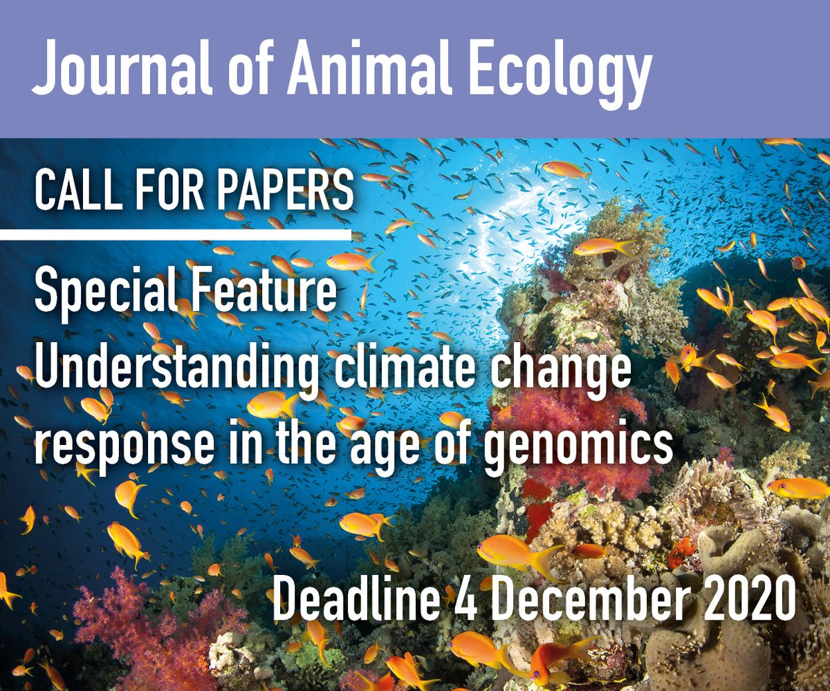 Open call for papers: Special Feature on understanding climate change response in the age of #genomics  We're looking for papers on: 1. Range shifts 2. Phenotypic plasticity 3. Local adaptation   Find out more here: https://t.co/tNvgxtAfeW https://t.co/1ReUB1NypH