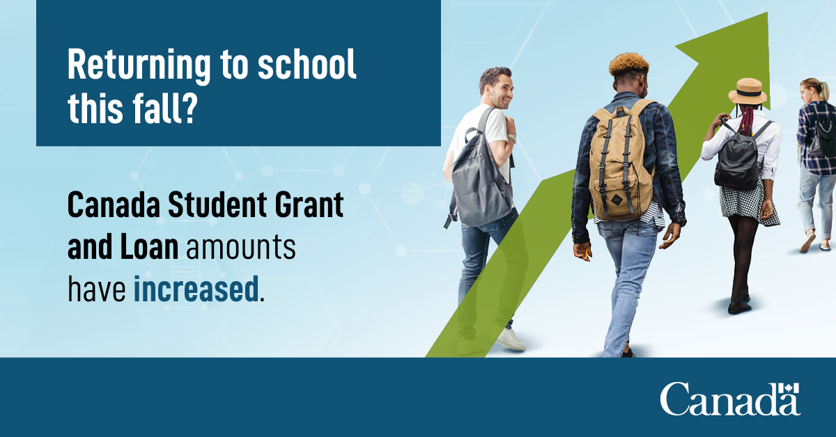 Employment And Social Development Canada On Twitter Many Canadians Returning To School This Year Are Bound By Financial Hardships Because Of Covid19 The Goc S Student Grants And Loans Can Help Pay For