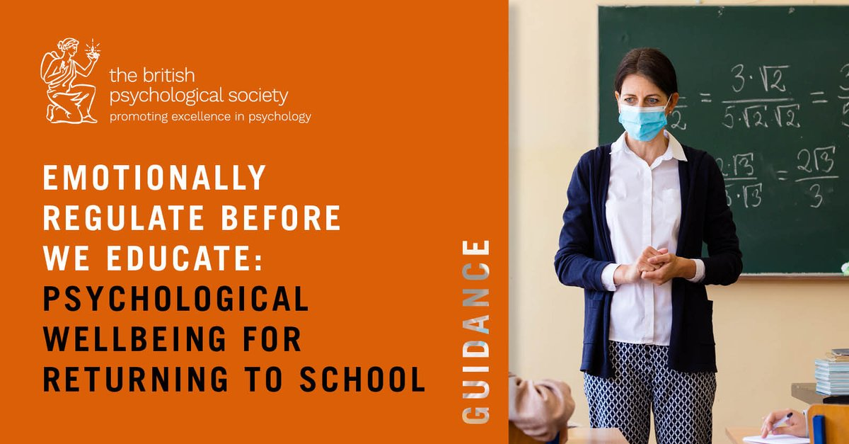 With schools in Northern Ireland reopening soon, we're recommending they 'emotionally regulate before you educate', to achieve the best outcome for children and adults.  @NIDECP @DECPOfficial @DrMarieJHill #education #twittereps #NI  Read our new guidance: https://t.co/e1XUwo6o3O https://t.co/ifCYxXkkEF
