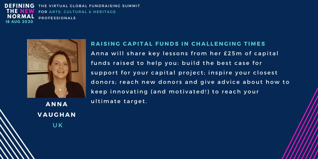📝 Building the best case for support for your capital project 🌟 Inspiring your closest donors 💙 Reach new donors 🌈How to keep on innovating Yep, it's @glowfundraising in Room 1 #ArtsSummit #FundraisingEverywhere
