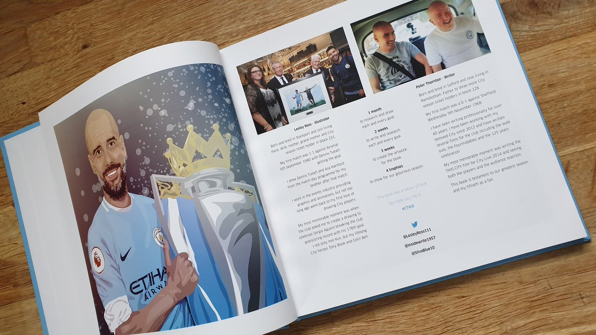 Feeling a bit blue after Saturday 🥺 Then cheer yourself up with our book. Every goal (169). All comps. From #ManCity 18/19 winning season. #fourmidables  Now half price £10 inc UK P&P https://t.co/NXtwwbnO9P  All drawings by me. Words by @insidewrite1957  RTs appreciated. https://t.co/AJYgDeOW6v
