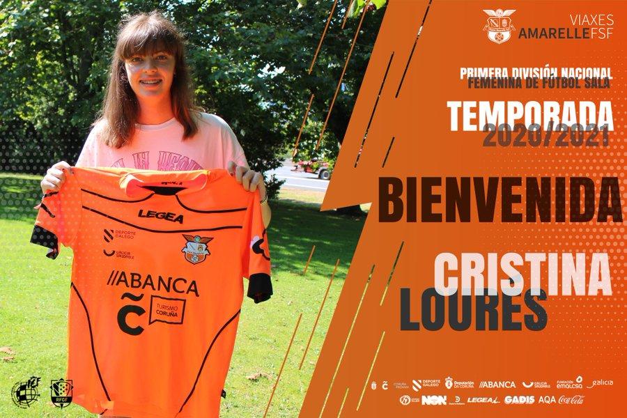 La promesa ferrolana en ciernes, Cris Lourés, firma con el Viaxes Amarelle FSF para la Primera División Nacional Femenina FS