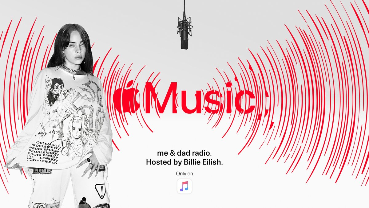 Billie Eilish - me & dad radio The final episode airs today at 3pm PT on Apple Music 1. @applemusic https://t.co/xSnC1qneV9 https://t.co/nnEj9qHDdf