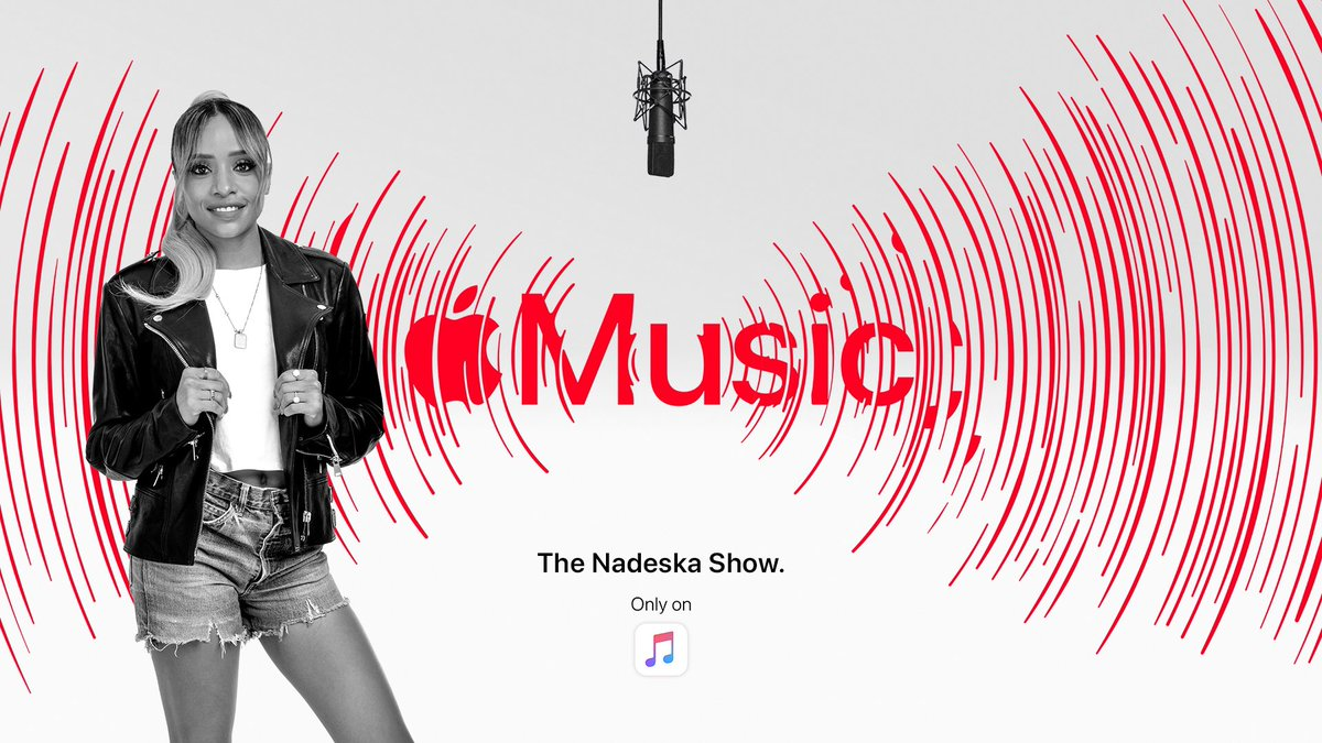 My show. Every Friday 11am ET only on @AppleMusic 😎 apple.co/nadeska