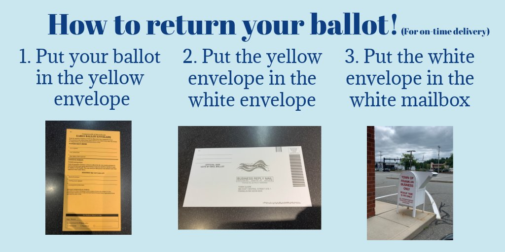 Franklin voters: How to return your mail in ballot