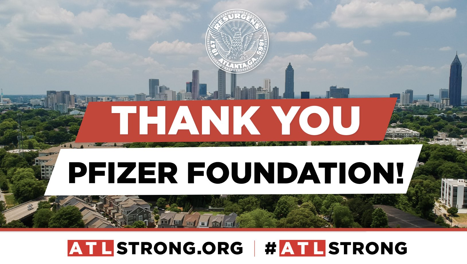 City Of Atlanta Ga On Twitter Thank You Pfizer Foundation For Donating 125 000 To The Atlstrong Fund Oneatlanta Atlstrong