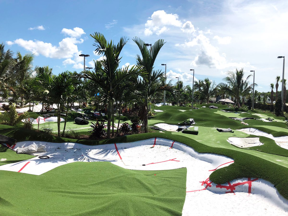 We are so excited to see the turf being installed on our Ft. Myers @PopstrokeGolf putting courses. Coming very soon! https://t.co/GtZ1sREFZ4