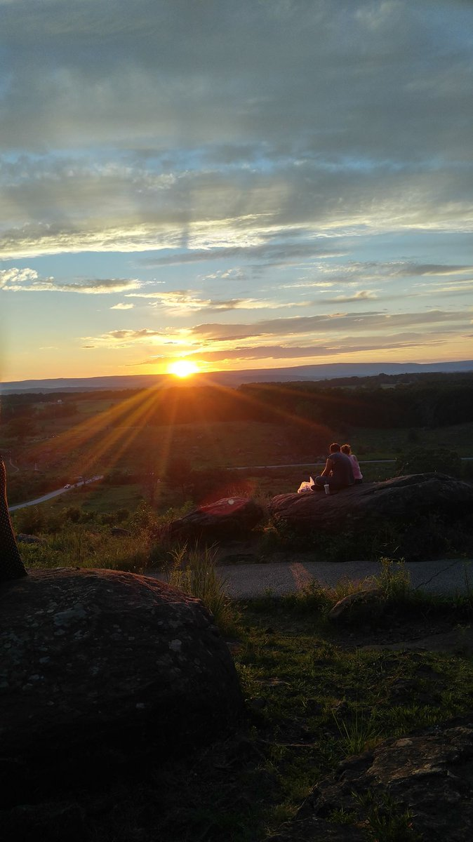 While on the battlefield last night in #Gettysburg, I noticed something I've never witnessed before...All of the sunset gazers were silent when watching the sun sink below South Mountain. It was so quiet & peaceful on LRT. Those are the nights I live for around here. #history
