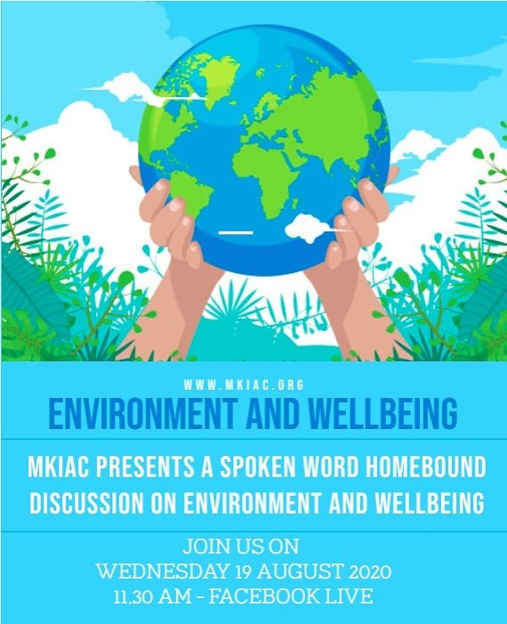 MKIAC presents a spoken Word Homebound discussion on Environment & Wellbeing  Wednesday 19 August '20 @ 11.30am - Facebook Live https://t.co/l6ZlkrqZMU  Guestspeakers @mervecirisoglu, Ahlyah Ali, Roz Mascarenhas, Halimah Sharifat, Aasia Keegan, Haleema Ali #Environment #Wellbeing https://t.co/b2yiGKuFBk