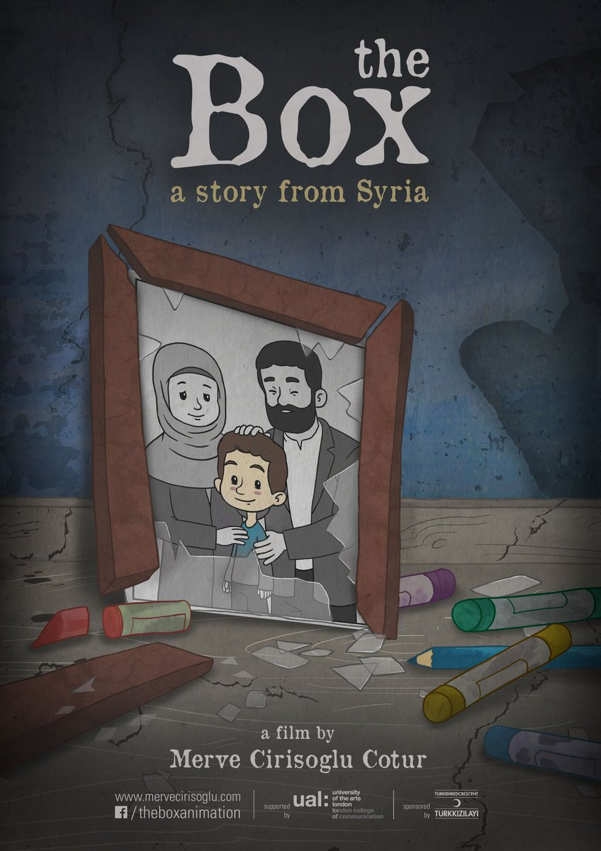 We are delighted to present 'the Box' by @mervecirisoglu.  A story from Syria. The Box is an award-winning animated short film.  'It is important working for the mental health of refugee children and women, and making art for raising awareness to spread peace and compassion'. https://t.co/ZE51ylGdmS