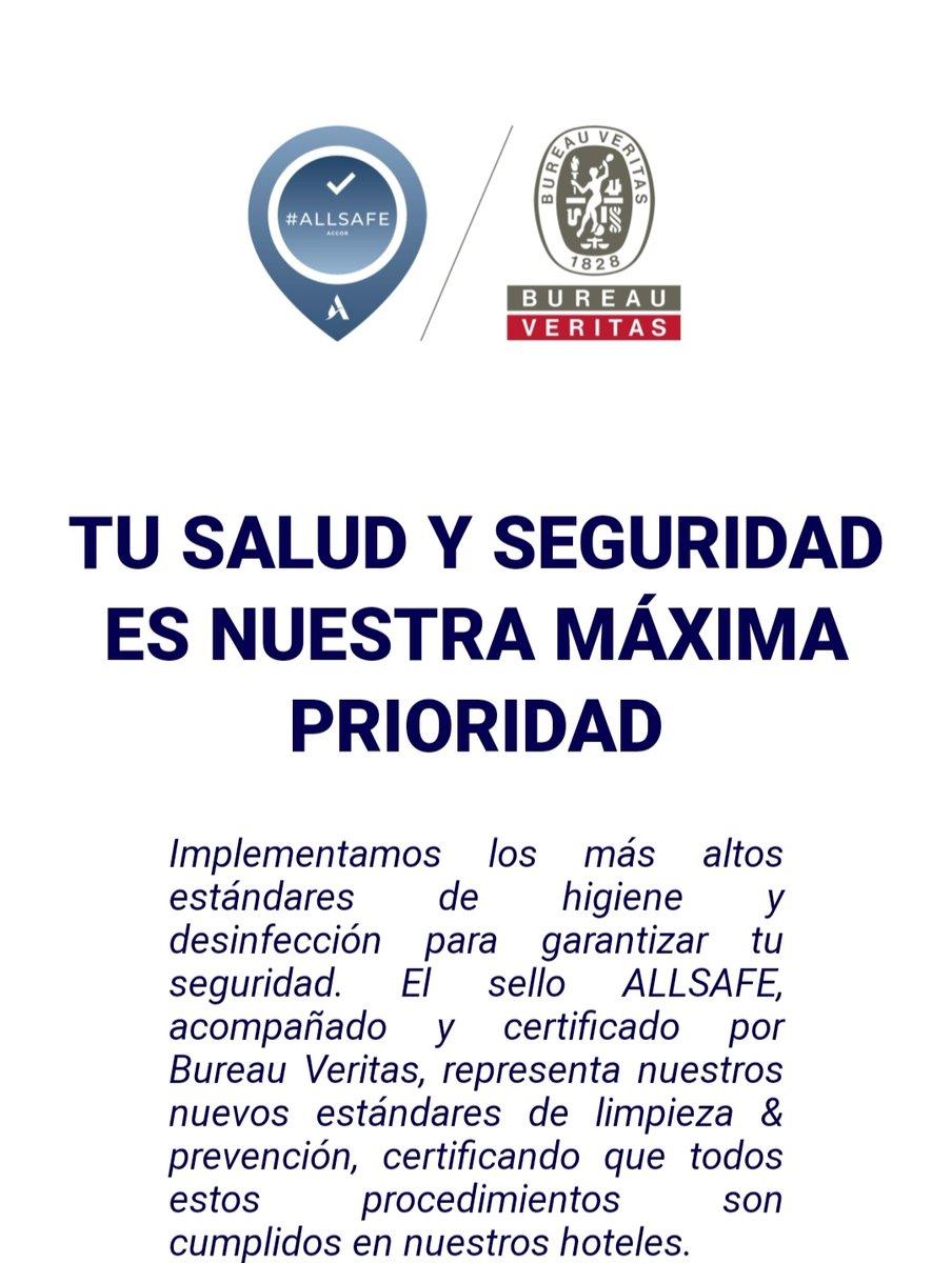Estamos encantados de compartir con vosotros que hemos obtenido el sello #AccorAllSafe emitido por la #SGS que certifica que cumplimos todos los requisitos para prevenir y gestionar cualquier riesgo de contaminación por el coronavirus:  https://t.co/WUSECVeKBj https://t.co/h4EV4tfV9O