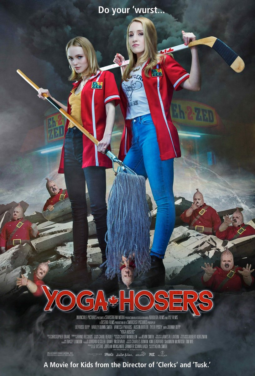 #YogaHosers is a very weird flick, but props to @ThatKevinSmith for making an adventure movie where the lead duo were two female friends who aren't just babysitters having a bad day, waiting for the kid's parents to come home. https://t.co/uqIoJRsFim