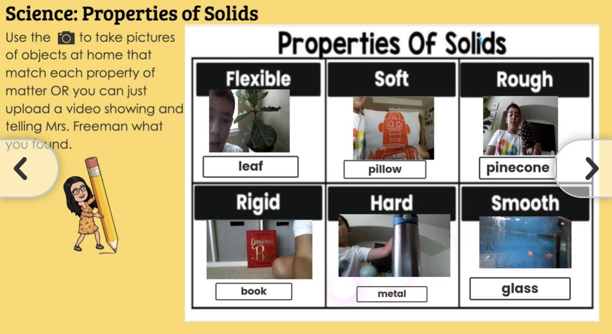 My teacher bucket is so full! I love seeing what my @ReaganElemCP #2ndgRAYde #reaganrays found as examples of these properties of solids around their homes! @LISDElemScience #sciencevocab #brilliantkids @Norman_Rays https://t.co/m80tD9DEXb