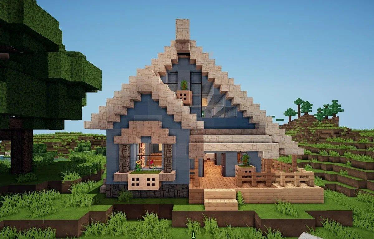 майнкрафт небольшой дом