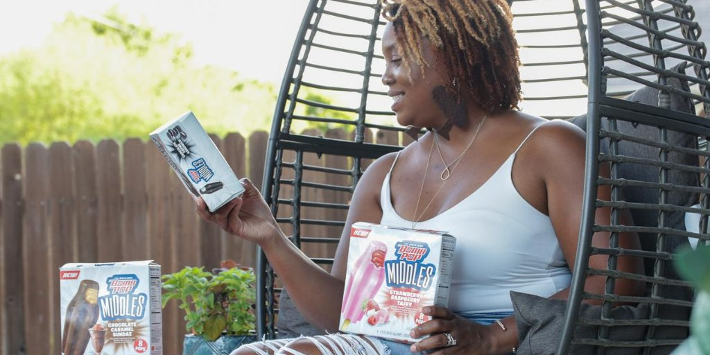 #ad Hey mama! If you're looking for a new frozen treat that's just as multidimensional as you are,  try out the new Bomb Pop Middles® from @Walmart. With their ice-creamy outside and gooey insides, your taste buds are sure to be pleased. #NotOneThing https://t.co/Jp2n5c86lz https://t.co/p2xI3YWxDY