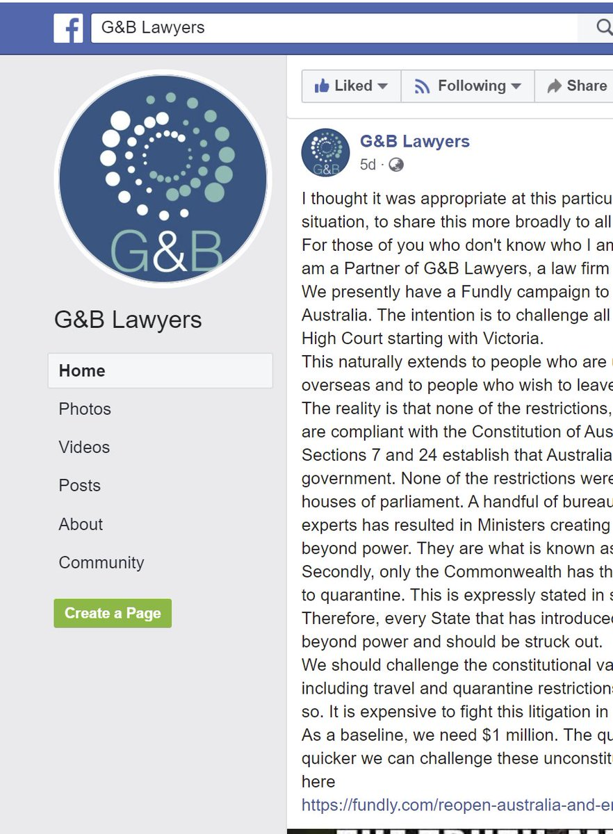 Southerncrosspatriot On Twitter Nathan Buckley Partner At G B Lawyers Sydney Is Challenging The Lockdown In The High Court They Are Also Fighting The No Jab No Play Laws Interesting Legal Info On