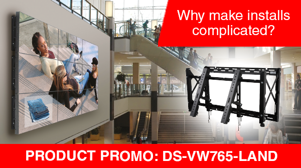 Who needs complications? The SmartMount Full-Service Landscape Video Wall Mount (DS-VW765-LAND), easy to configure, quick to install and a snap to maintain. Make light work of your installs and contact your account manager now! https://t.co/wYNjPt1d5G #DigitalSignage #AVTweeps https://t.co/OLVeC1hgSG
