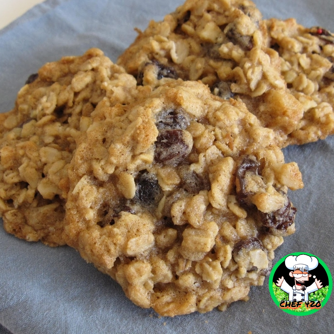 Oatmeal Raisin Cookies By Chef 420 Cannabis Infused Stoner friendly Recipe Low Sugar and Super tasty!   https://t.co/ze1lR6q783    #Chef420 #Edibles #Medibles #CookingWithCannabis #CannabisChef #CannabisRecipes #InfusedRecipes #Happy420 #420Eve #420day https://t.co/86bB8U9FfW