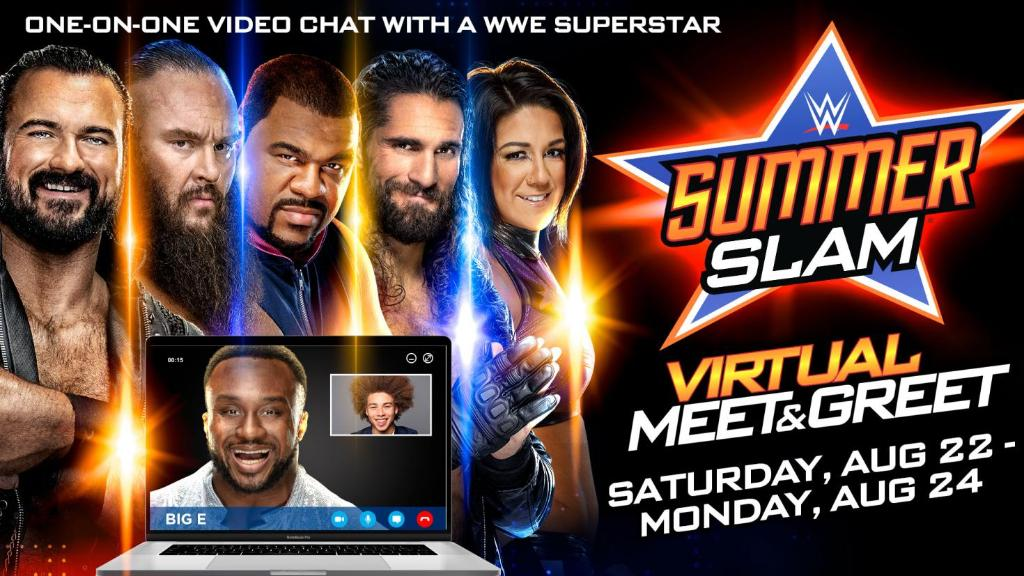 WWE Announces SummerSlam Weekend Virtual Meet & Greets