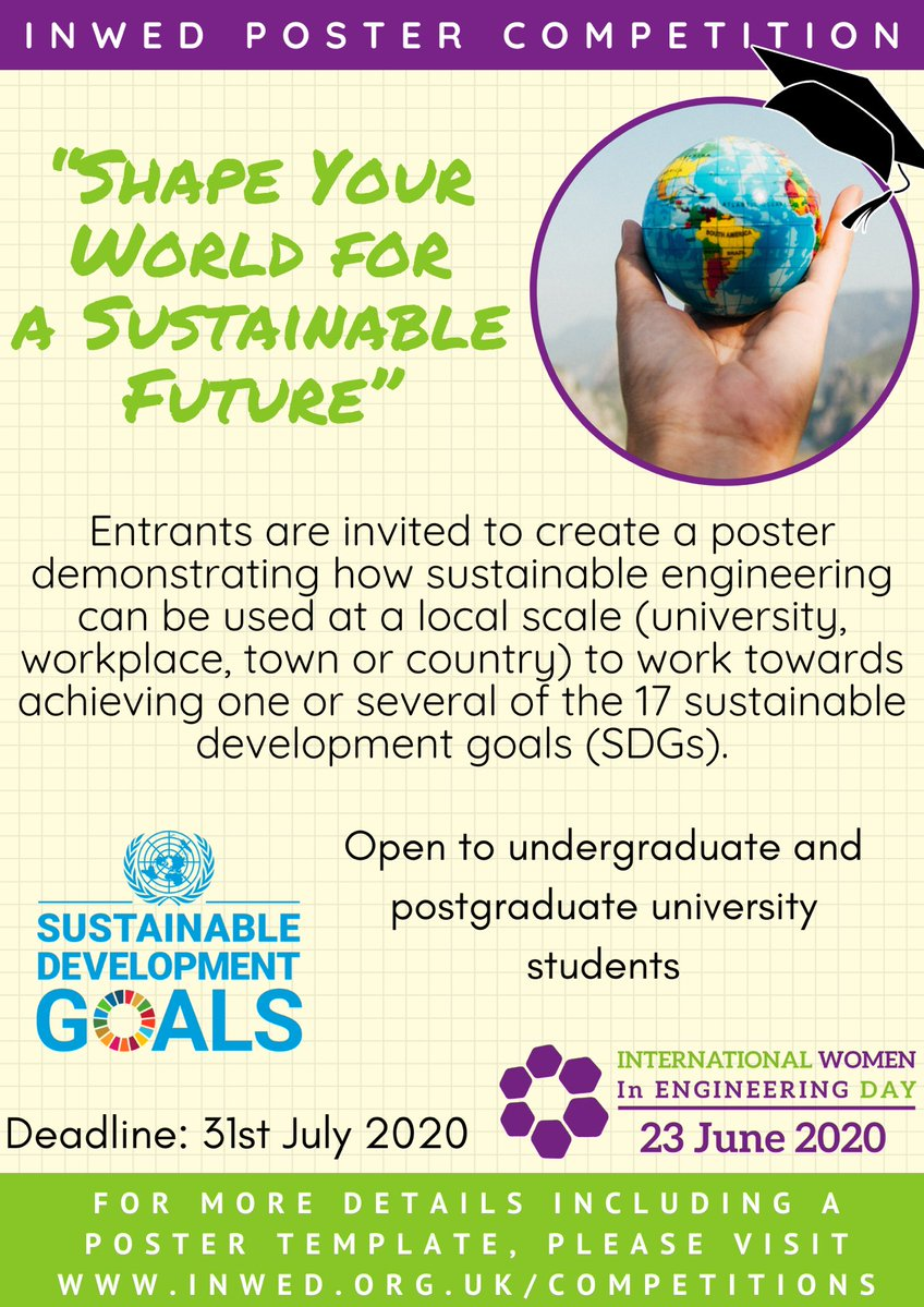 Winners have been decided for the #INWED20 university poster competition! Head to the website to check out the winners:bit.ly/3d66oQv! Well done & congratulations to them all! Thanks to everyone who entered & to @WES1919 UGB for running the comp in celebration of INWED!