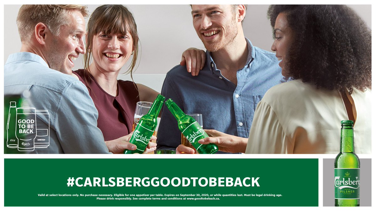 Looking to catch up with an old friend?  Just head to https://t.co/mMaYKex1Sz and fill out a personal E-Card inviting a buddy to meet at a localbar or restaurant.🍻  Then you will get a voucher for a free appetizer at any participating location!🙌😋  #CarlsbergGoodToBeBack https://t.co/YeZPj7rnWK