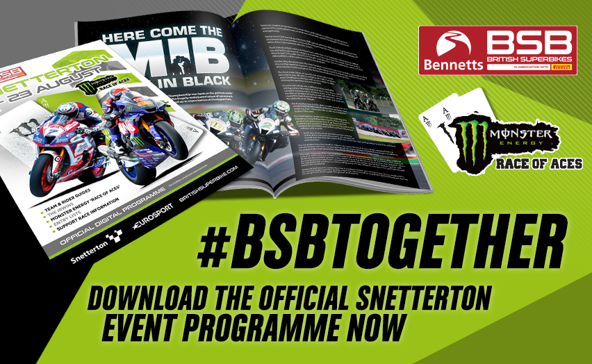 It is time to check out the @SnettertonMSV programme ahead of the @MonsterEnergy rounds of @bennetts_bike BSB this weekend  Free to download now!  📖 https://t.co/zLCJoSBve1  #SnettertonBSB | #BSBtogether https://t.co/bvqXCDOfXY