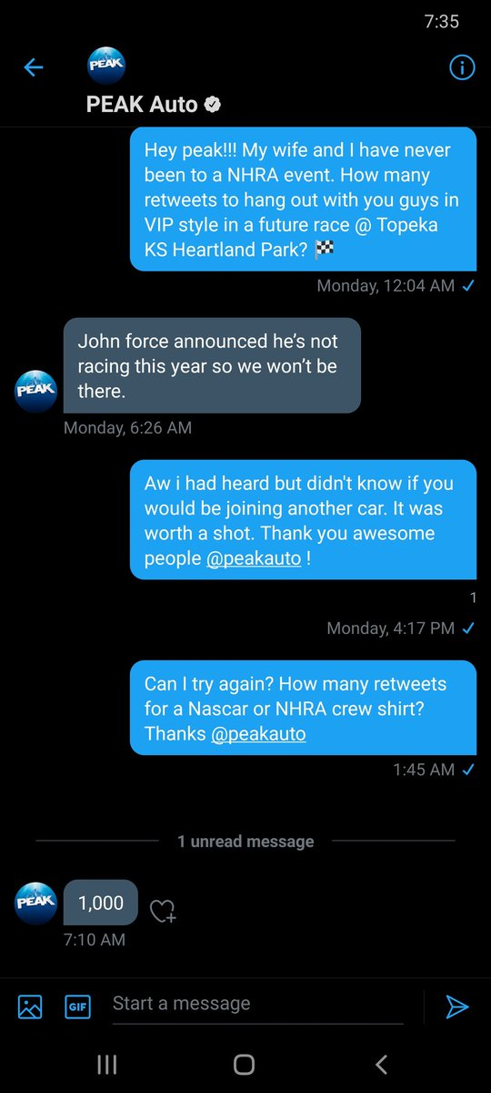 Can I get some help all!!! 1000 retweets for @peakauto Thanks!