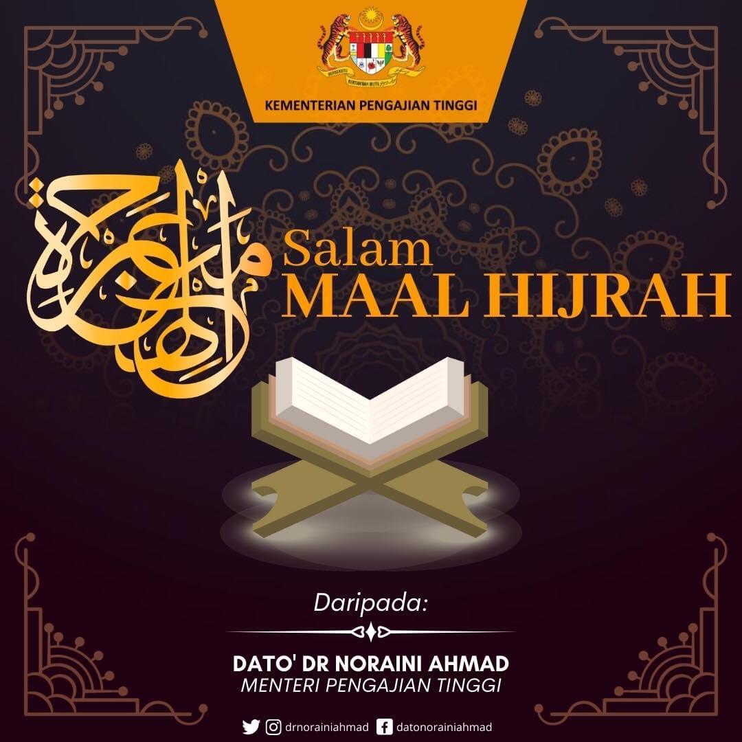 Salam Maal Hijrah kepada seluruh umat Islam. Semoga tahun baru ini membawa keberkatan dan kesejahteraan kepada semua dan menjadikan kita lebih baik daripada tahun sebelumnya.