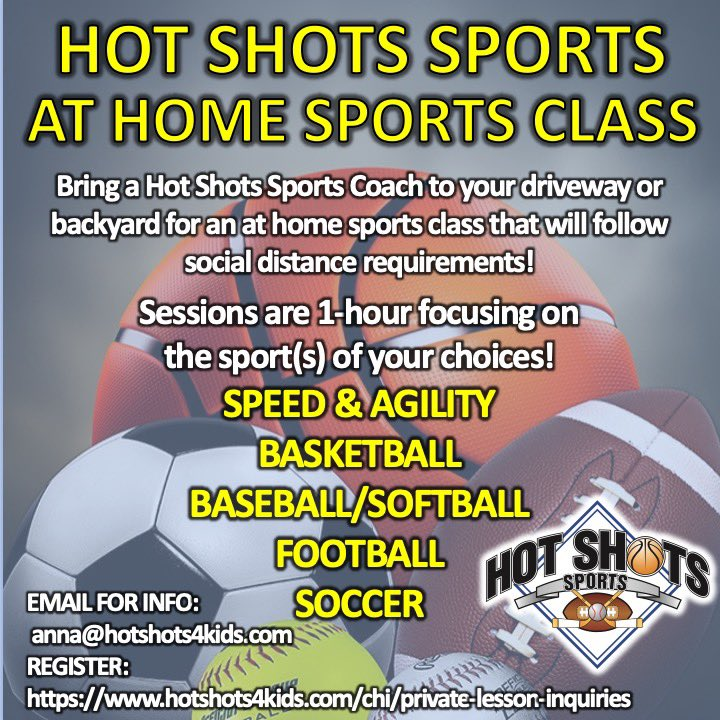 We still have space this month to schedule your customized At Home Sports Class! • #hotshotssports #youthsports #beactive #athomeclass https://t.co/5ENCm2olVx