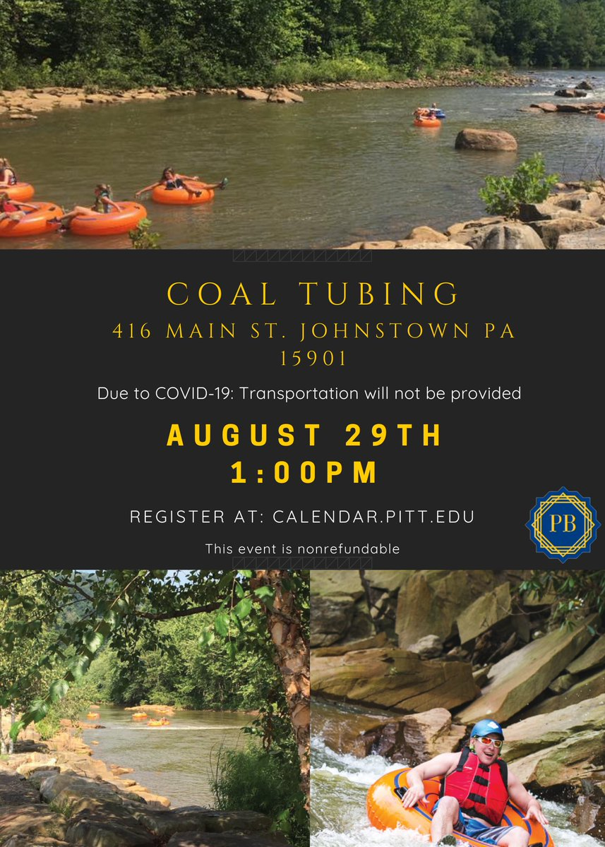 Hey Guys! We are excited to announce yet another event! Coal tubing! Our limit for sign ups is 50 students so sign up as quick as you can! It costs $10 for students! Transportation is not provided for this event. https://t.co/kTqhZuTSqY