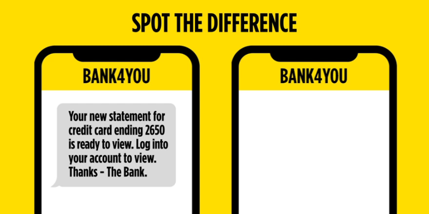 Bank Of Ireland Uk On Twitter Can You Spot The Difference Between A Genuine Request And One That S A Scam Takefive And Remember To Log Into Your Account Directly To Update Your