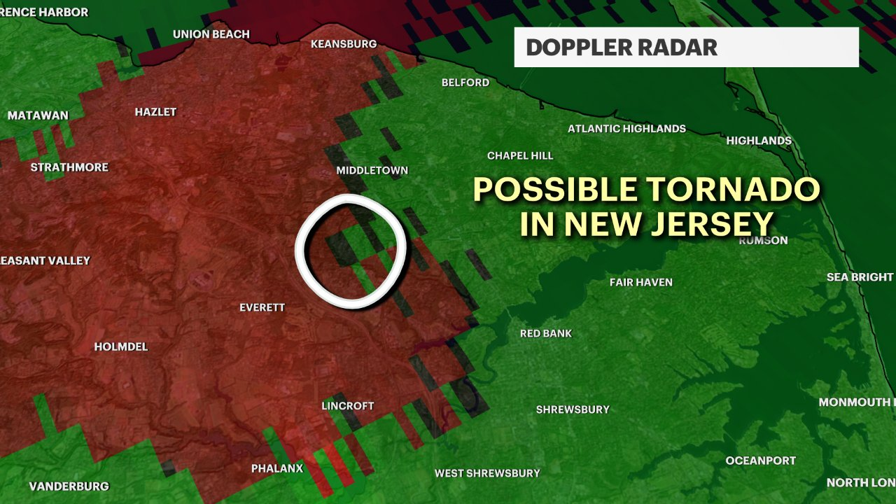 Geoff Bansen On Twitter Possible Tornado In New Jersey Between 10 45 And 11am Doppler Radar Indicated A Rotating Thunderstorm Just South Of Middletown Nj You Can Clearly See This By Looking