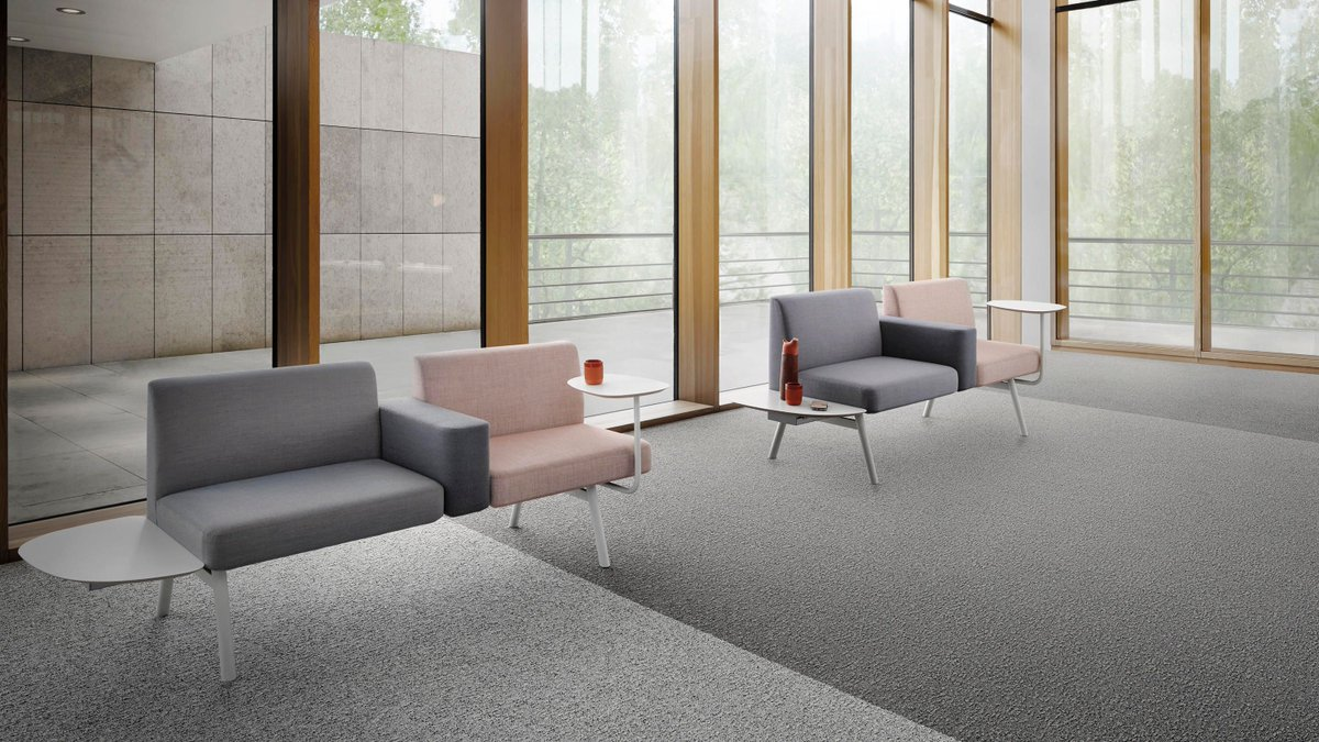 These #carpettiles are amazingly #sustainable: containing 100% #recycled chalk from Dutch drinking water and #ECONYL made of regenerated materials like fishing nets, highly effective in capturing fine dust, the backing contains 75% recycled content,   https://t.co/dYalHuWcBK https://t.co/WgvkvP4wXX