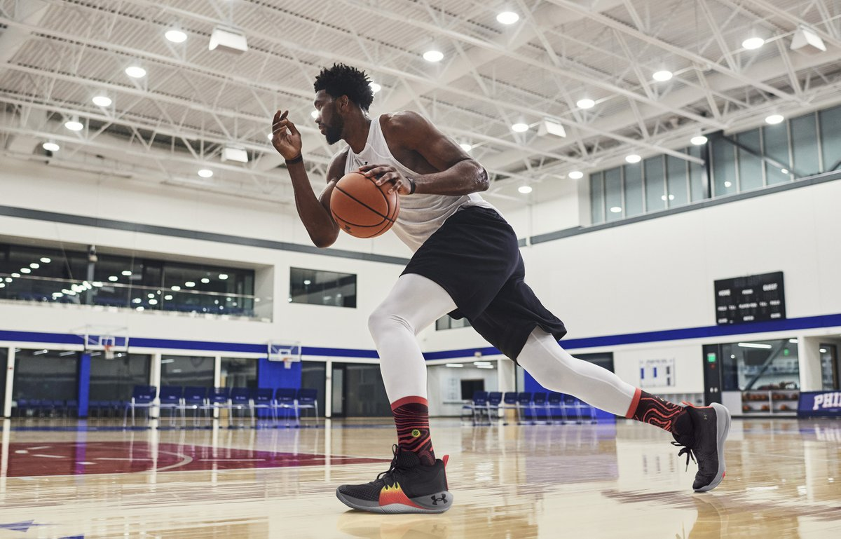 Introducing the UA Embiid One. Powerful enough for a big man, light enough for a guard, and quick enough to run the court ➡️https://t.co/z2hWf9XjKr. https://t.co/vYzZ9lp9Yh
