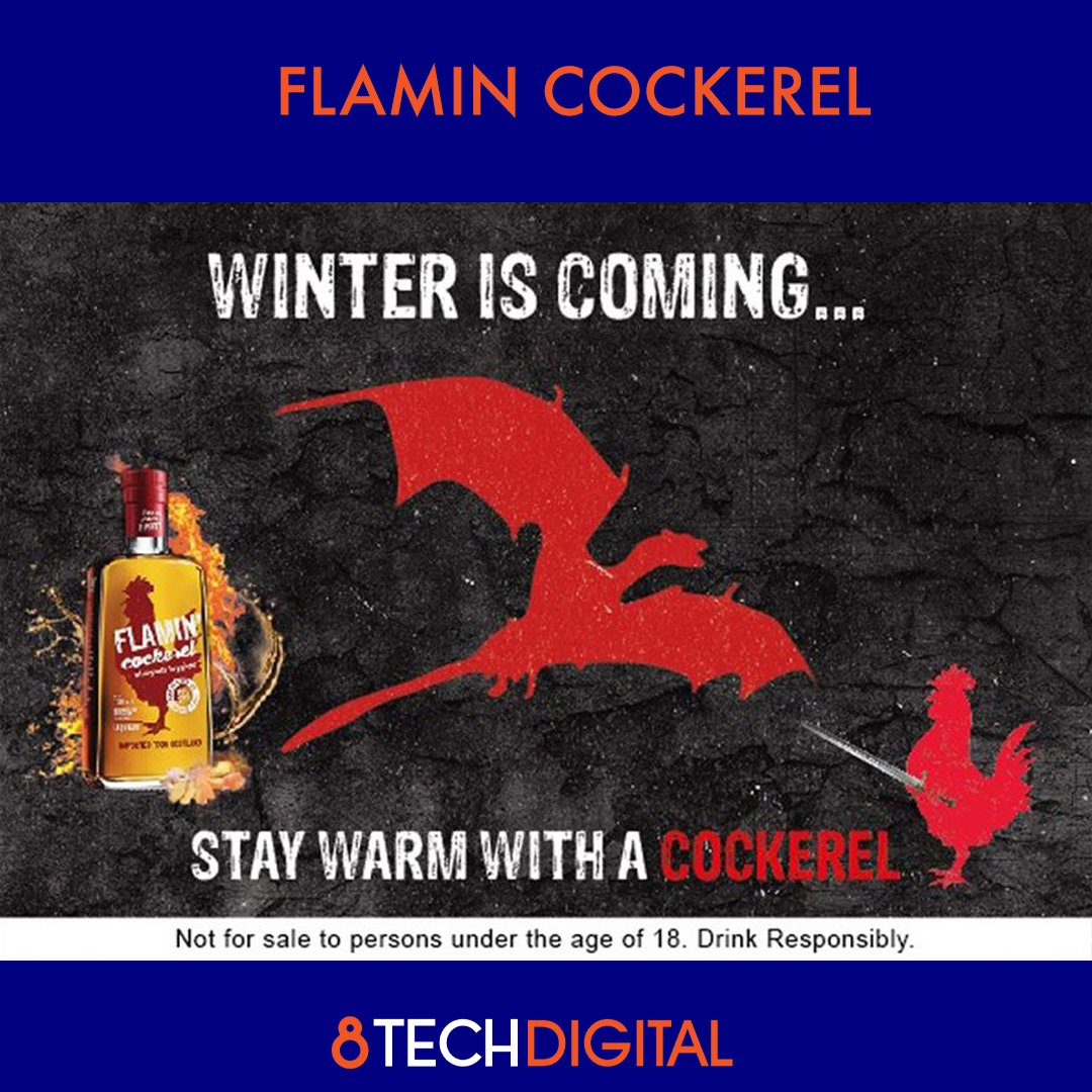 """8TechDigital's """"Irreverent but Thoughtful"""" Social Media Campaign for Flamin Cockerel managed to increase the page following of from 10K to 18K in just 4 months with an average engagement rate of 24%  #digitalmarketing #socialmediamarketing #consumerengagement https://t.co/Jmj0rQAbCq"""