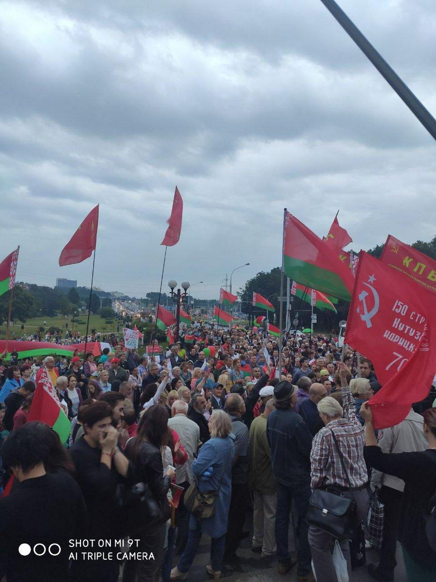 Митинги в поддержку Лукашенко 19 августа.