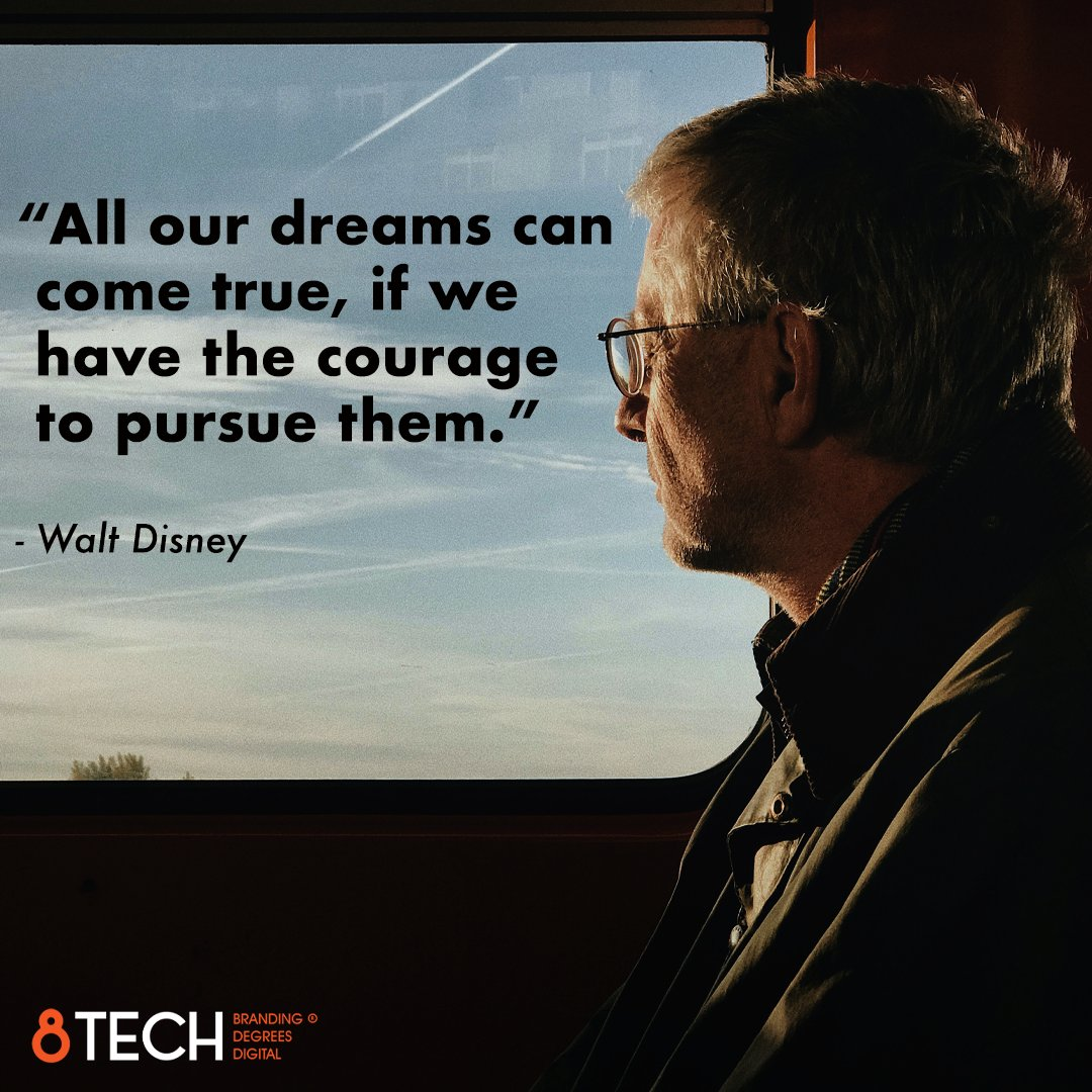 """""""All our dreams can come true, if we have the courage to pursue them."""" - Walt Disney #quoteoftheday #motivation #inspiration https://t.co/LQpDAUSL7h"""