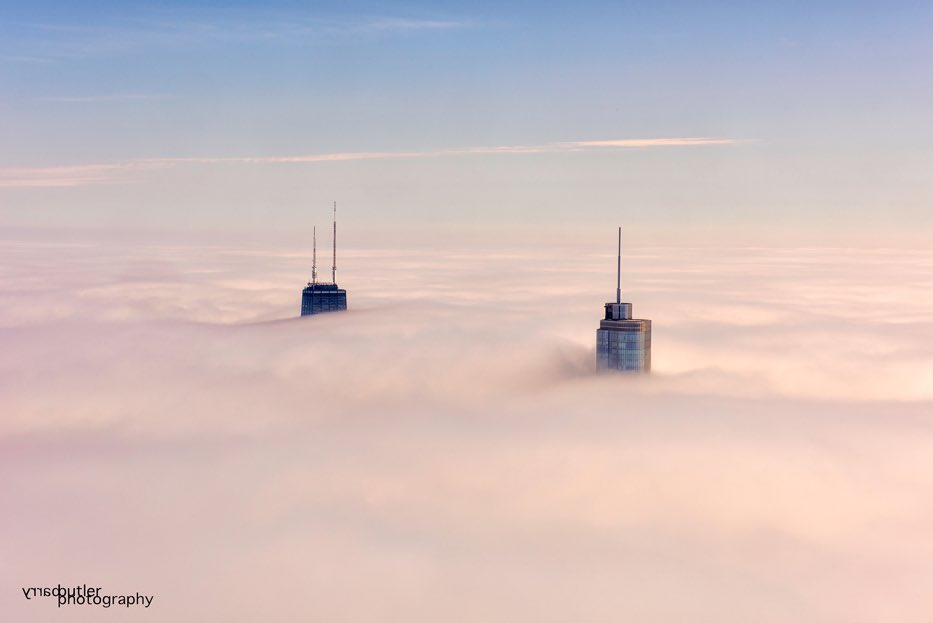 Amazing picture of @TrumpChicago rising into the clouds! #TrumpHotels
