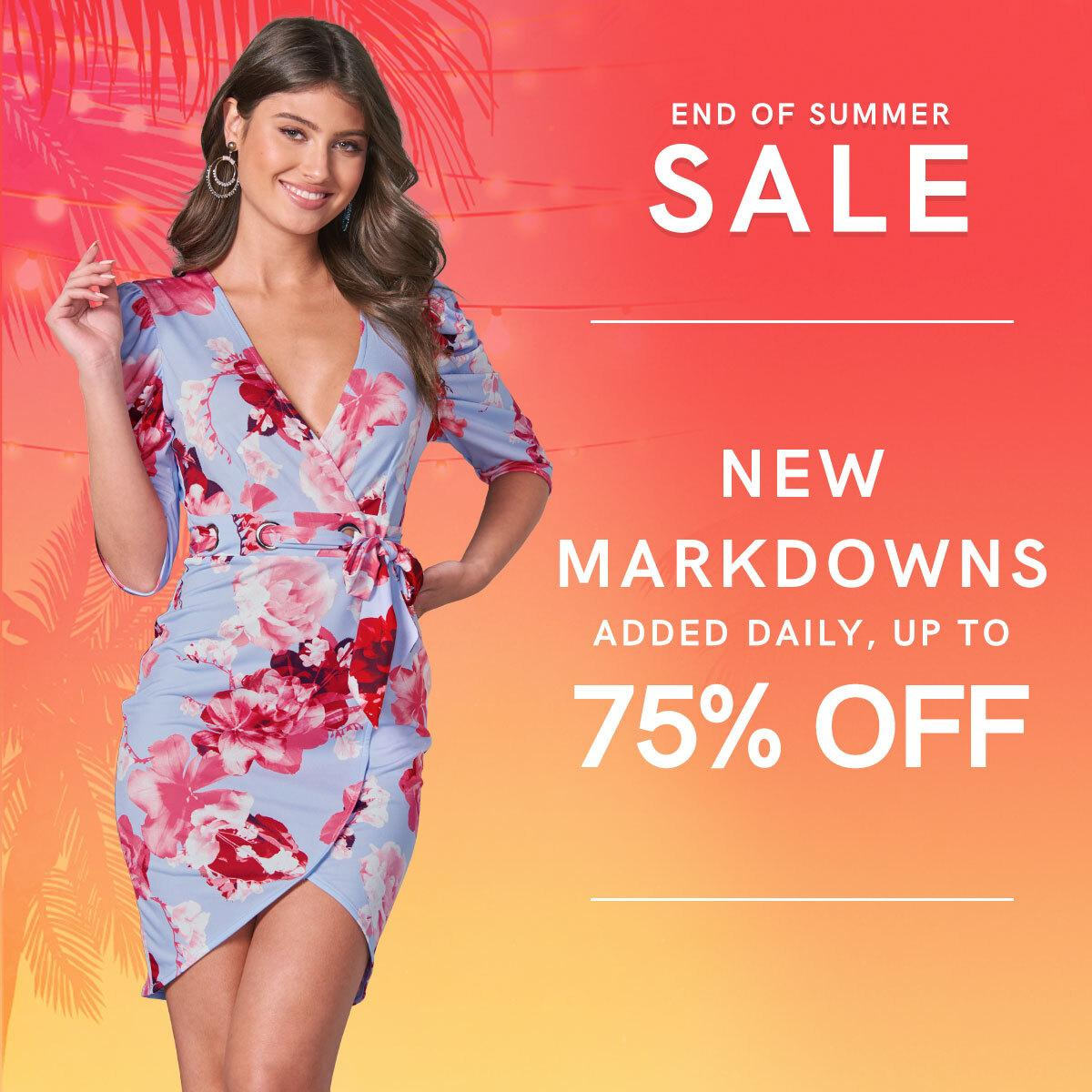 Shop our best-selling styles at the lowest prices of the season with savings up to 75%!  Floral Faux Wrap Dress: https://t.co/CZIERfV3VU  End of Summer Sale: https://t.co/NIV0hwNFeG https://t.co/IqnHOhn6mC