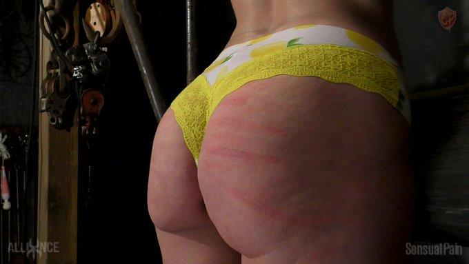 2 pic. Measured #BDSM #Extreme #CaneMarks #BarDevice #Shackles #Cane #Knife #Sadistical #Bound #Bondage