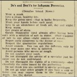 Image for the Tweet beginning: 1918 pandemic advice .. simple,