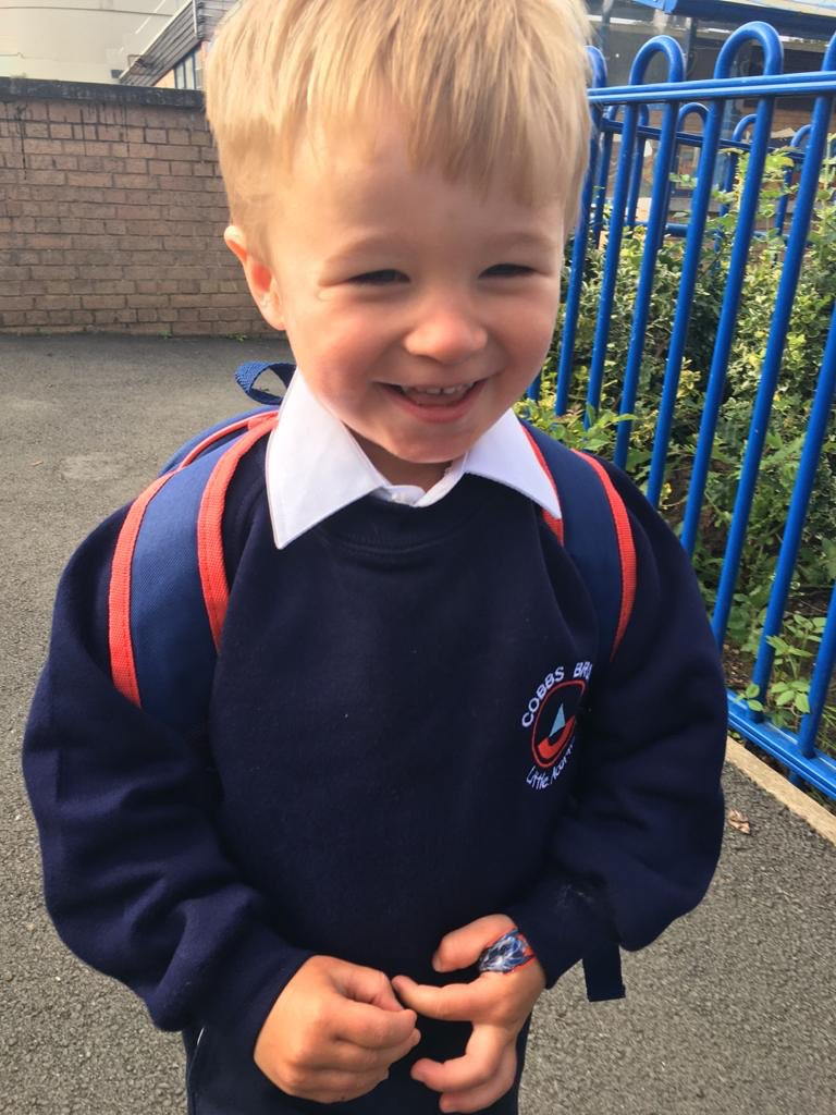 Collecting this little man from his taster day in nursery 😍 https://t.co/7kdXlY7kHQ
