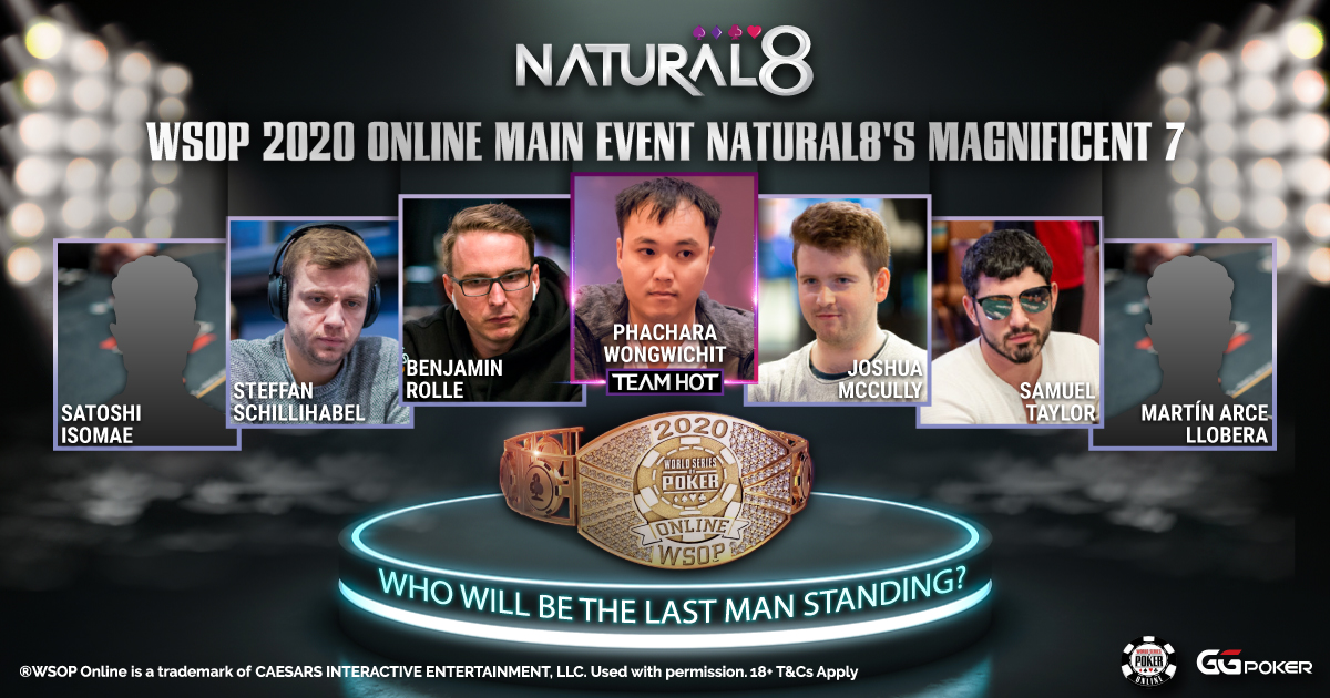 #N8FREEBIES  7 #Natural8 players, only 1 will stand above the rest  Choose who among the 7 you think will last the longest in the #WSOP Main Event  FOLLOW, LIKE, RETWEET  Only one lucky player will win, the prize will vary depending on how far the N8 player progress