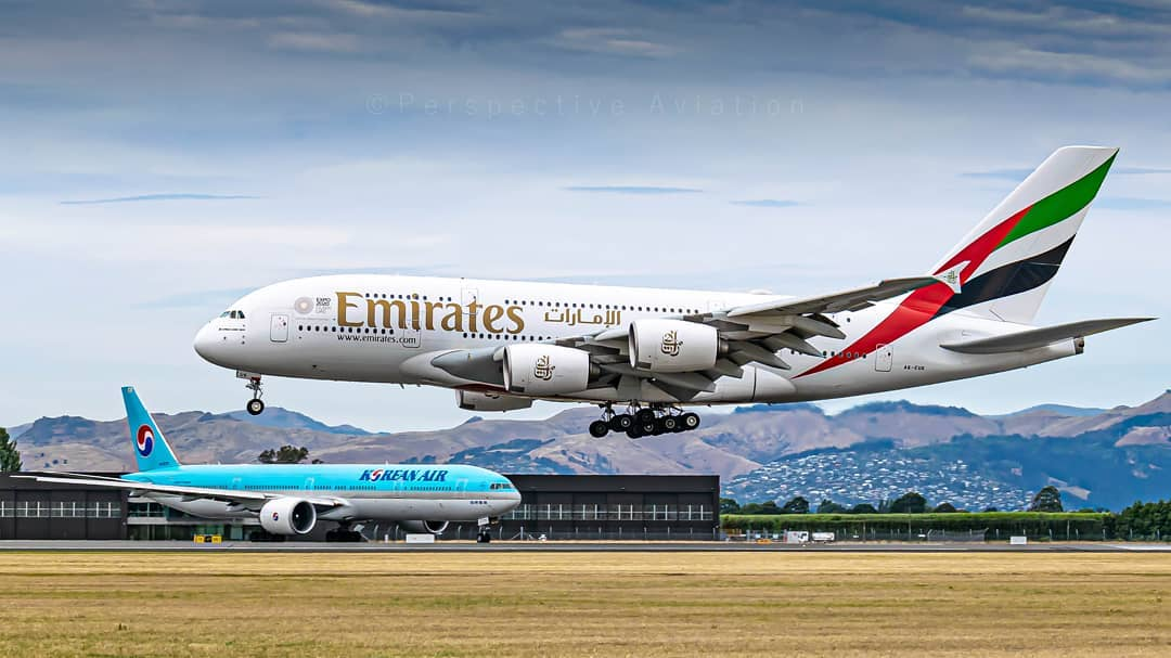 #ThrowbackThursday We're so looking forward to the day that @emirates and @KoreanAir_KE are regular visitors to @Christchurch_NZ again!   📸: https://t.co/YB8Uka5RWy https://t.co/KXwvQlMioj