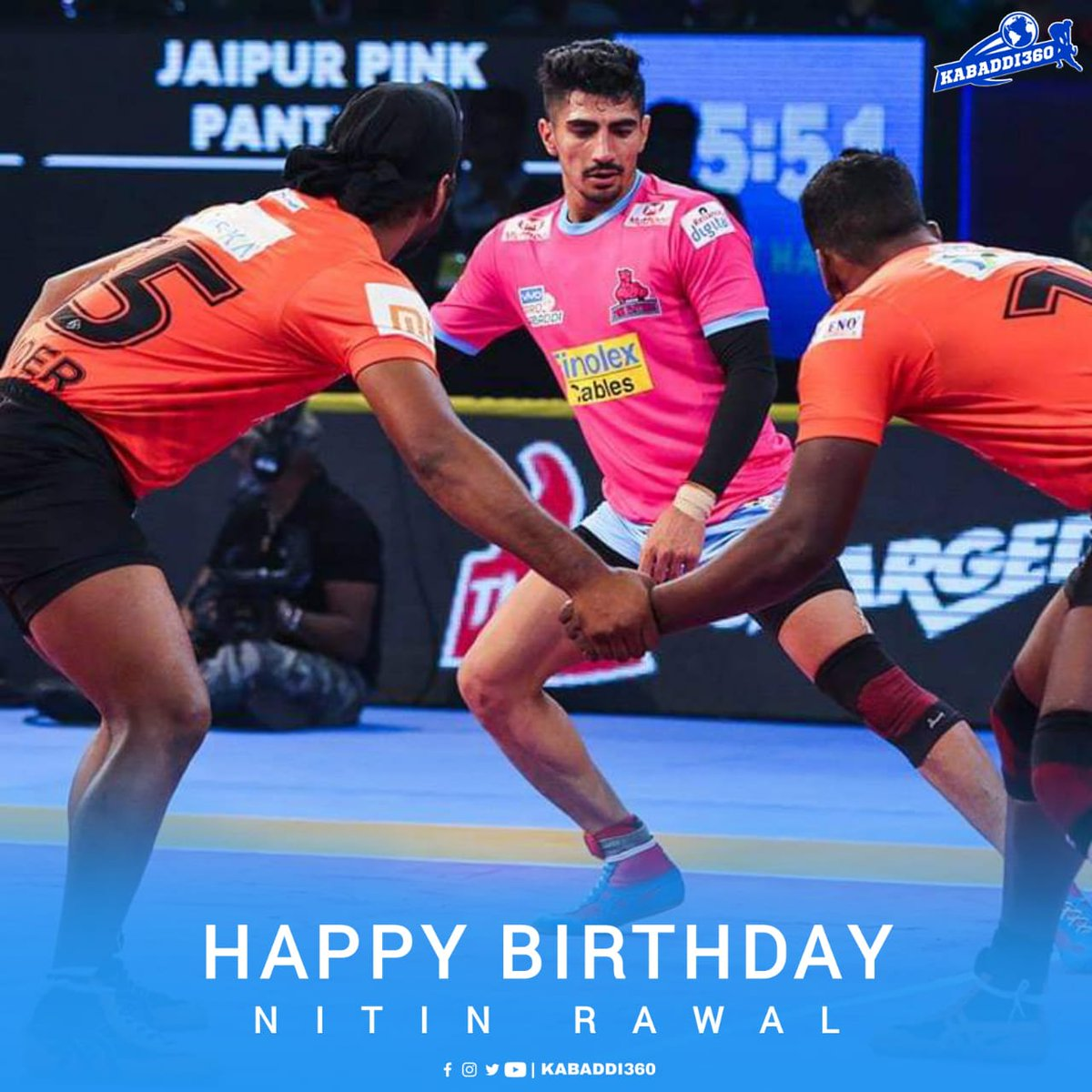 Jaipur Pink Panthers' top all rounder of Season 5 with 85 points, happy birthday Nitin Rawal 🎂  #NitinRawal #HappyBirthday #Kabaddi360