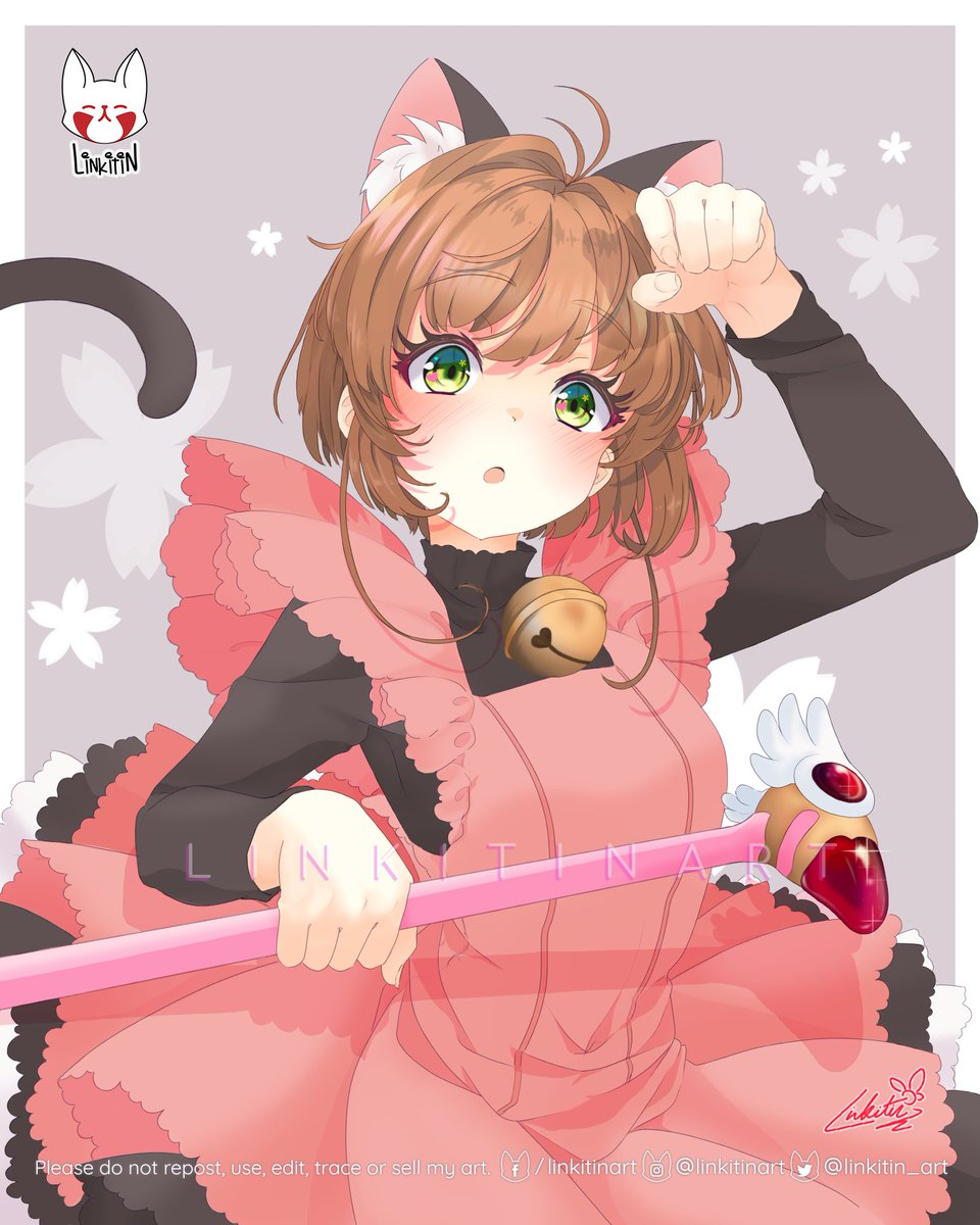 Sakura-nyan 🌸🐱  What's your fav Sakura costume?  🖤 PLEASE do not repost without my permission.  #Sakura #Cosplay #SakuraCardCaptor #Clamp #Nekomimi https://t.co/o1sEsWI11Y