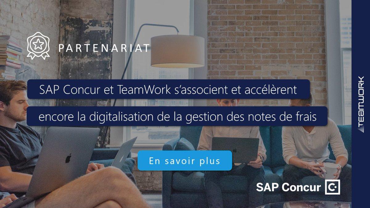 Image for the Tweet beginning: 👏 Partenariat : @SAPConcur et