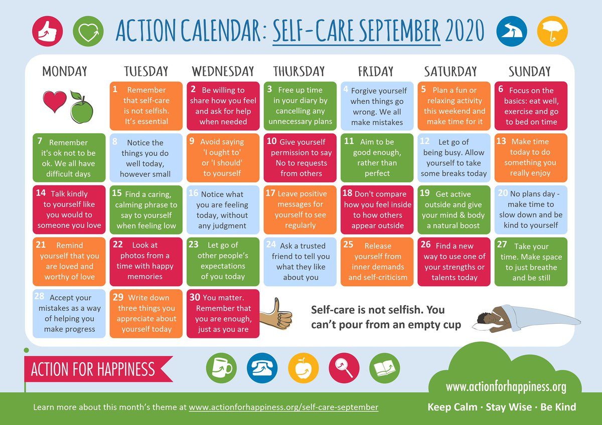 Self-Care September - Day 1: Remember that self-care is not selfish. It's essential https://t.co/oB2zIQ2bZe #SelfCareSeptember https://t.co/R5WjKTjbym